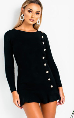View the Amanda Peplum Knit Dress online at iKrush