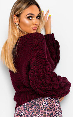 View the Amelia Chunky Knitted Jumper online at iKrush