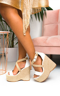 View the Amelia Raffia Strappy Wedges online at iKrush