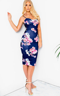View the Amelie Floral Midi Dress online at iKrush