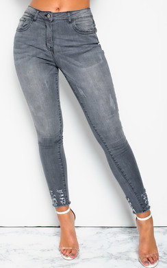View the Amerie Distressed Ripped Crop Jeans online at iKrush