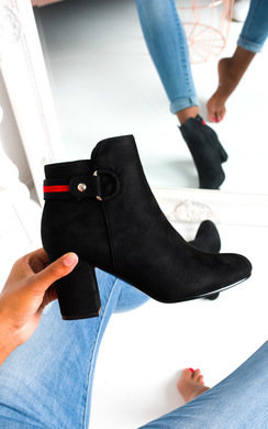 View the Ami Faux Suede Heeled Boots online at iKrush