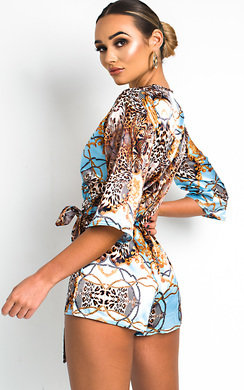 View the Ami Printed Tie Waist Playsuit online at iKrush