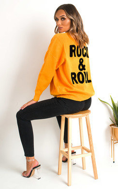 View the Amy Rock Slogan Jumper online at iKrush