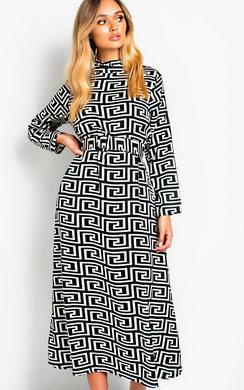 View the Ana Printed Maxi Dress online at iKrush