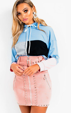 View the Anna Sports Panelled Crop Jumper online at iKrush