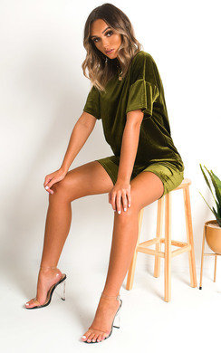 View the Anna Velvet Tshirt and Shorts Co-ord  online at iKrush