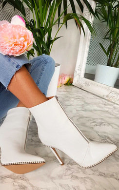 View the Annabelle Faux Leather Pointed Boots online at iKrush