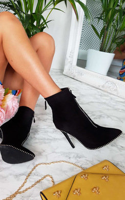 View the Annabelle Faux Suede Pointed Boots online at iKrush