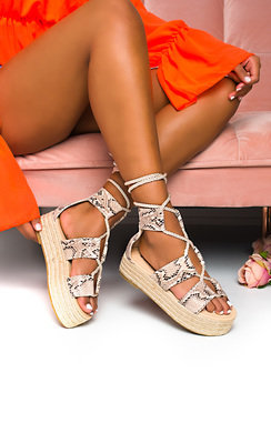 View the Annie Flatform Rope Sandals online at iKrush