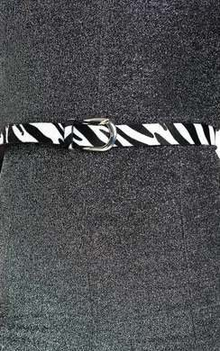 View the Annie Zebra Print Belt online at iKrush