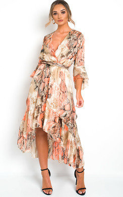 View the Anya Printed Floaty Maxi Dress online at iKrush