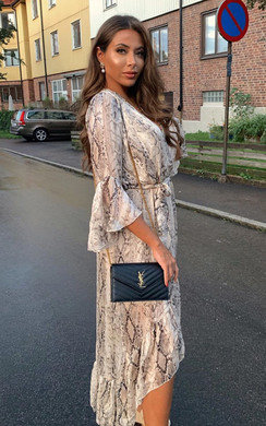 View the Anya Printed Floaty Maxi Dress online at iKrush