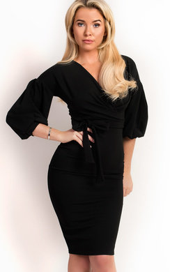 View the Aoife Wrap Tie Bodycon Dress online at iKrush