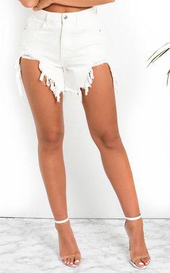 View the April Distressed Denim Shorts online at iKrush
