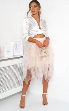 View the April Layered Net Midi Skirt online at iKrush