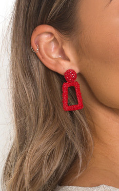 View the April Statement Mini Drop Earrings  online at iKrush