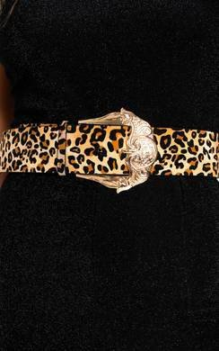 View the Arabella Statement Leopard Print Belt online at iKrush