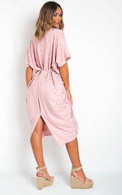 View the Aria Batwing Polka Dot Maxi Dress online at iKrush