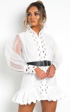 View the Ariana Sheer Mesh Mini Dress online at iKrush