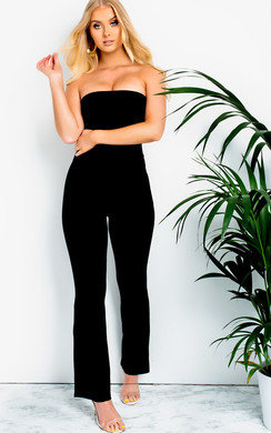 View the Arianna Slim Leg Bardot Jumpsuit online at iKrush