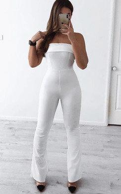 View the Arianna Slim Leg Bardot Jumpsuit online at iKrush