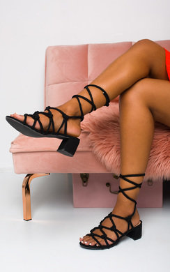 View the Ariya Lace Up Block Low Heels online at iKrush