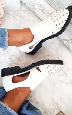 View the Arla Studded Buckle Flats online at iKrush