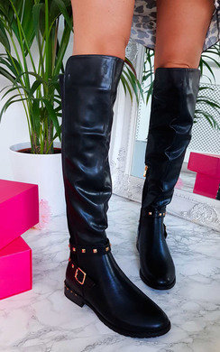 View the Arlo Studded Knee High Boots online at iKrush