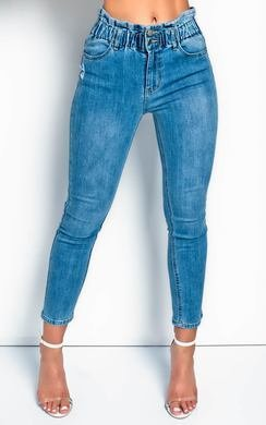 View the Asha Elasticated Waist Skinny Jeans  online at iKrush