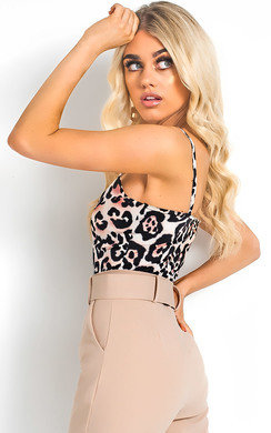 View the Asha Leopard Print Bodysuit online at iKrush