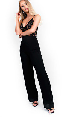 View the Ashlee Lace Wide Leg Jumpsuit online at iKrush