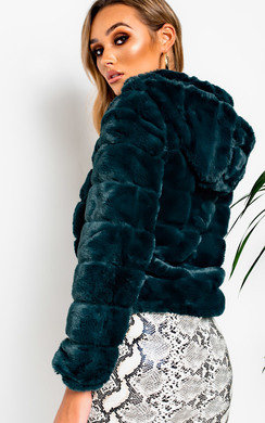 View the Ashley Faux Fur Bomber Jacket online at iKrush