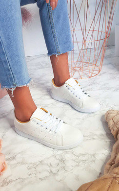 View the Ashley Faux Leather Trainers  online at iKrush
