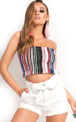View the Astrid Bandeau Crop Top online at iKrush