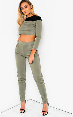 View the Astrid Colour Block Lounge Co-ord online at iKrush