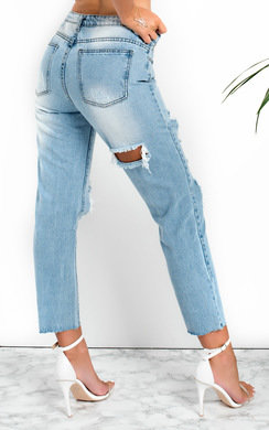 View the Astrid Distressed Mom Jeans  online at iKrush