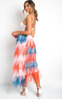 View the Aurora Layered Net Skirt online at iKrush