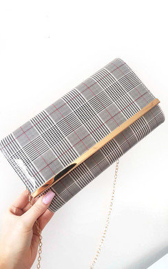 View the Ava Check Envelope Clutch Bag online at iKrush