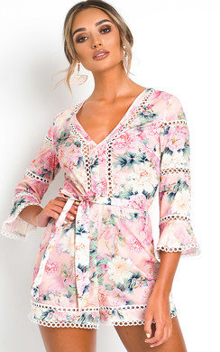 View the Ava Floral Playsuit online at iKrush
