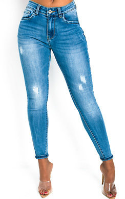 View the Ayia Ripped Stretch Skinny Jeans online at iKrush