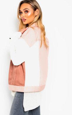 View the Ayla Colour Block Denim Jacket online at iKrush