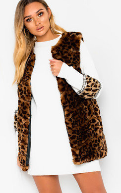 View the Ayla Faux Fur Waistcoat online at iKrush