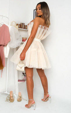 View the Aynsley Tulle Mini Dress online at iKrush