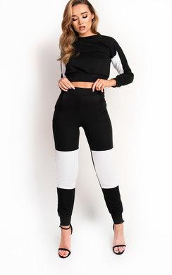 View the Beki Slim Fit Stripe Panel Tracksuit online at iKrush