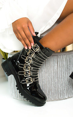 View the Bekki Multi Buckle Biker Boots  online at iKrush
