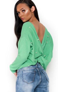 View the Bella Embellished Beaded Knot Jumper  online at iKrush