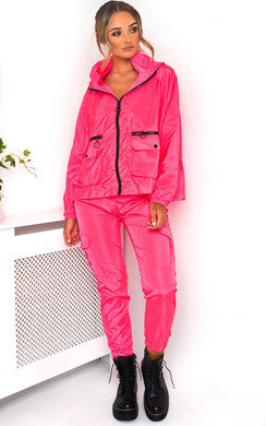 View the Bella Neon Sports Bomber Jacket online at iKrush