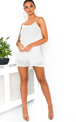 View the Bella Pleated Overlay Playsuit online at iKrush