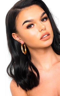 View the Beth Chunky Hoop Earrings  online at iKrush